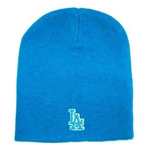 MLB Cuffless Los Angeles Dodgers Beanie Hat Cap - Blue