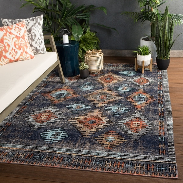 The Curated Nomad Lilah Tribal Indoor/ Outdoor Area Rug. Opens flyout.