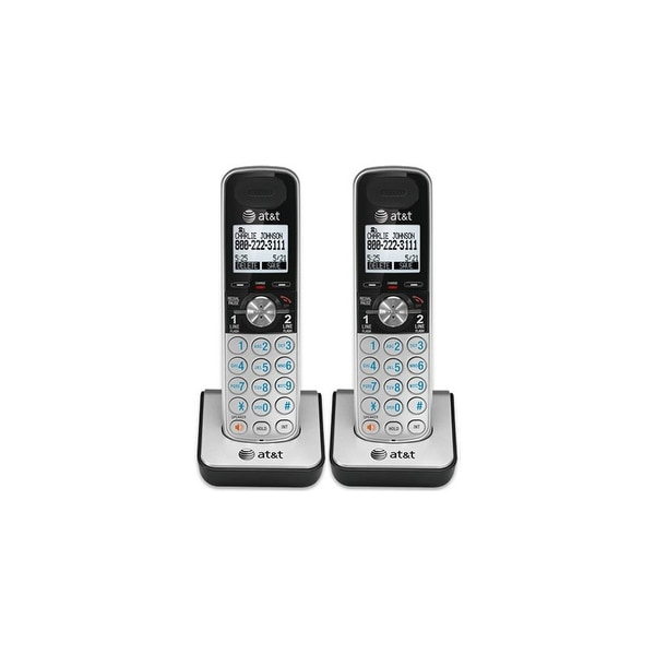 AT&T TL88002 DECT 6.0 1.9GHz 2 Line Extra Handset / Charger Speakerphone 2 Pack