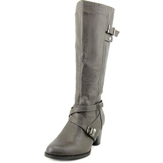 Rialto Claudette Wide Calf Women  Round Toe Synthetic Gray Knee High Boot