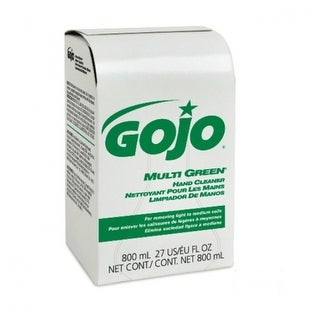 Gojo 9172-12 Multi Green Hand Cleaner Refill for Bag-in-Box Dispenser, 800 ml
