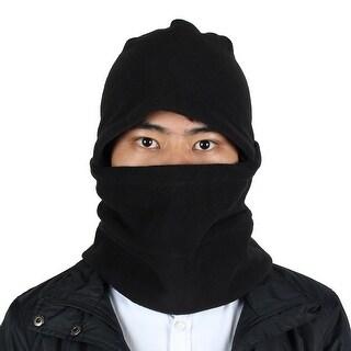 Motorcycle Thermal Fleece Detachable Neck Face Mask Cover Balaclava Hood  Black