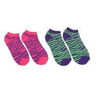 2 Pair of Women`s Wild Zebra Heavy Ankle Socks