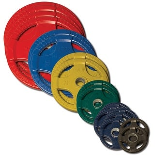 Body-Solid Colored Rubber Quad Grip Oly Plate Set