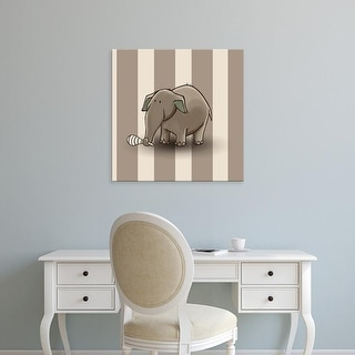 Easy Art Prints GraphINC's 'Elephant' Premium Canvas Art