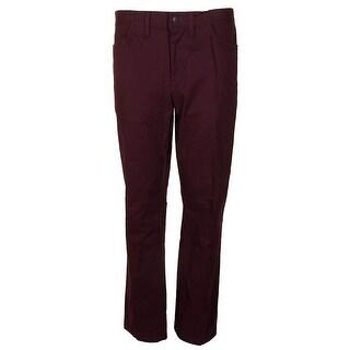 Alfani Rhone Red Slim-Fit Flat Front Cotton Stretch Pants X - 36X30
