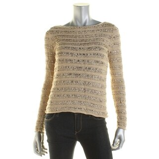 Lauren Ralph Lauren Womens Petites Casual Top Textured Knit