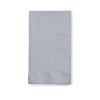 """Club Pack of 600 Silver 2-Ply Disposable Party Paper Guest Napkins 8"""""""