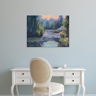 Easy Art Prints Mary Jean Weber's 'Monet's Garden III' Premium Canvas Art