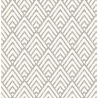 Brewster 2625-21825 Vertex Charcoal Diamond Geometric Wallpaper - charcoal diamond - N/A