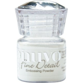 Nuvo Embossing Powder Fine Detail .68Oz-Glacier White