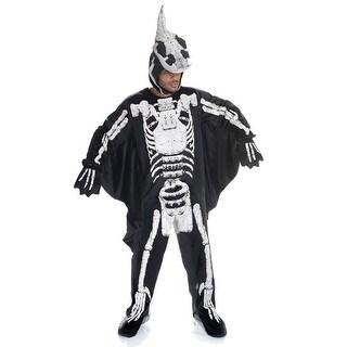 Dinosaur Pterodactyl Fossil Adult Costume Jumpsuit, OS - Black