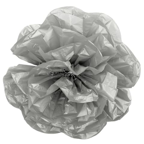 1 Pk, Large Paper Rose Flower Tissue Wall Backdrop/Chairs 50Cm - Silver