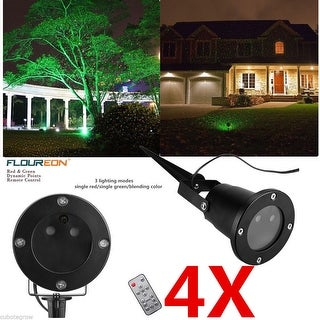 4x Outdoor Red Green Laser Light Projector Garden Holiday Lighting Remote Contrl - Red/Green