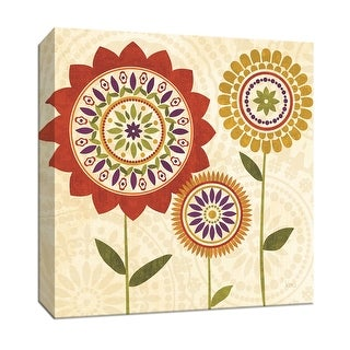 """PTM Images 9-152526  PTM Canvas Collection 12"""" x 12"""" - """"Fall Flowers I"""" Giclee Flowers Art Print on Canvas"""