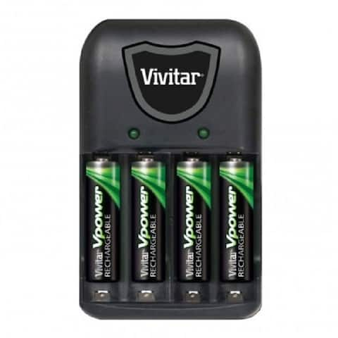 Vivitar AA/AAA Battery Charger With 4 AAA Batteries - VIV-BC-172 - Black