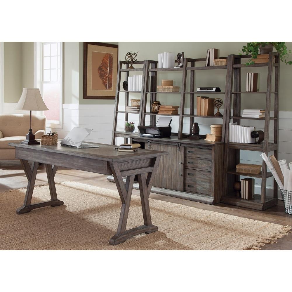 Stone Brook Rustic Saddle 5 Piece Desk Set