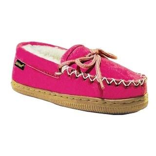 Old Friend Slippers Girls Kids Sheepskin Loafer Moccasin 461128