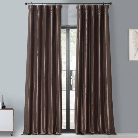 Exclusive Fabrics Faux Silk Taffeta 108-inch Blackout Curtain Panel - 50 x 108