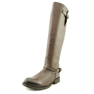 Steve Madden Rex Round Toe Leather Knee High Boot
