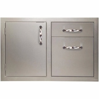 """Artisan Grills ARTP-DDC  32"""" Wide Single Access Door and Double Storage Drawer Combination - Stainless Steel"""