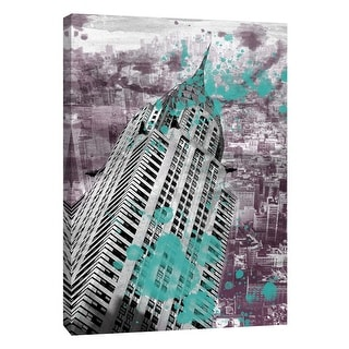 """PTM Images 9-109086  PTM Canvas Collection 10"""" x 8"""" - """"Chrysler Building"""" Giclee New York Art Print on Canvas"""