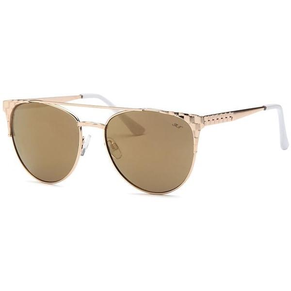 1373ede0e59 Shop Mia Nova MN2017-116 BROWN Retro Semi-Round Style Sunglasses ...