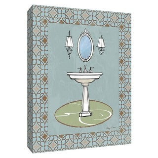 """PTM Images 9-154746  PTM Canvas Collection 10"""" x 8"""" - """"Chandelier Bath II"""" Giclee Faucets Art Print on Canvas"""