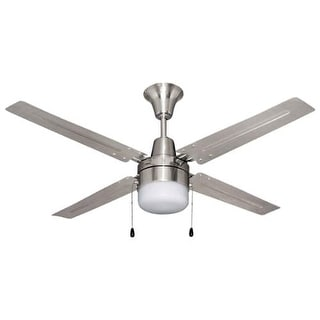 "Ellington Fans UB48 Urbana 48"" 4 Blade Hanging Indoor Ceiling Fan with Reversible Motor, Blades and Light Kit - Brushed Chrome"