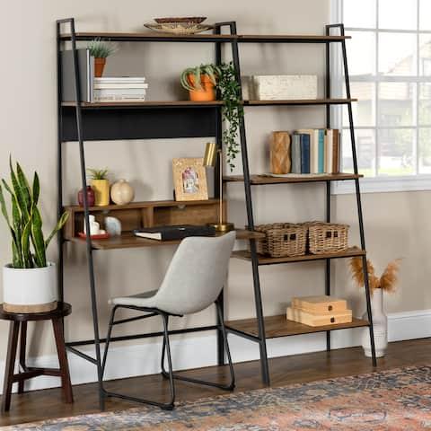 Carbon Loft Lahuri 2-Piece Desk and Ladder Shelf Set