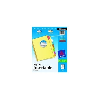 Avery 11111 8 Tab Multi-Colored WorkSaver Big Tab Paper Dividers Dividers 8color Lg