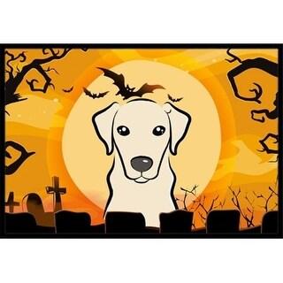 Carolines Treasures BB1780JMAT Halloween Yellow Labrador Indoor & Outdoor Mat 24 x 36 in.