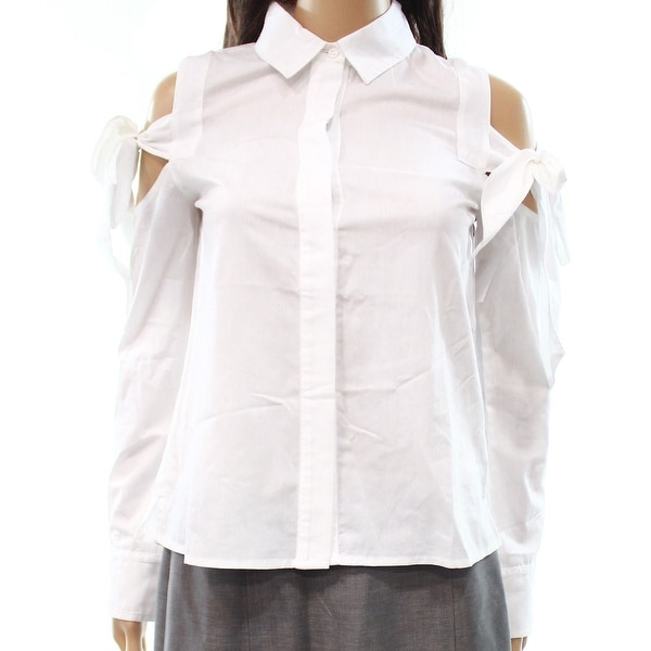 d7ea8b44c06 Women's Small Cold-Shoulder Button Down Shirt - On Sale - Free Shipping On  Orders Over $45 - Overstock - 26910764
