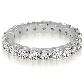 336fb109ae2 Shop 14K White Gold 1.40 cttw. Round Cut Shared Prong Diamond Eternity  Wedding Ring HI