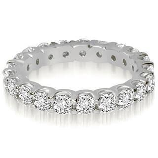 422b18145 14K White Gold 1.40 cttw. Round Cut Shared Prong Diamond Eternity Wedding  Ring HI,