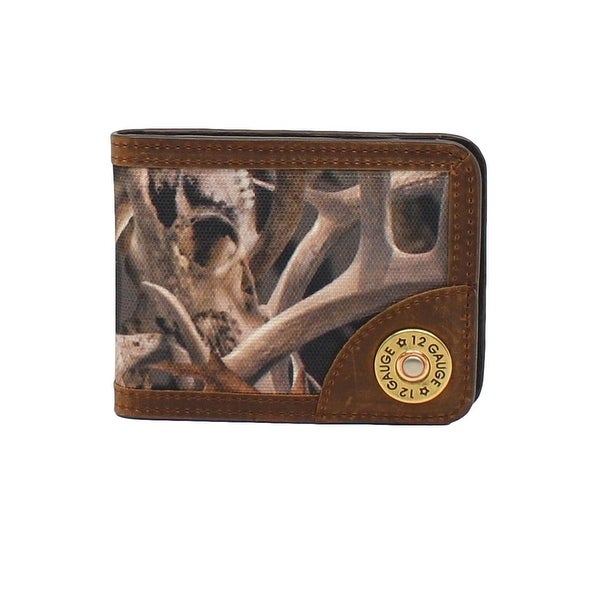 Ariat Western Wallet Mens Money Clip Shotgun Shell Camo Bonz - One size