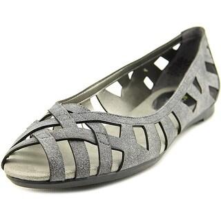 Easy Spirit Jamilyn Women W Round Toe Synthetic Gray Flats