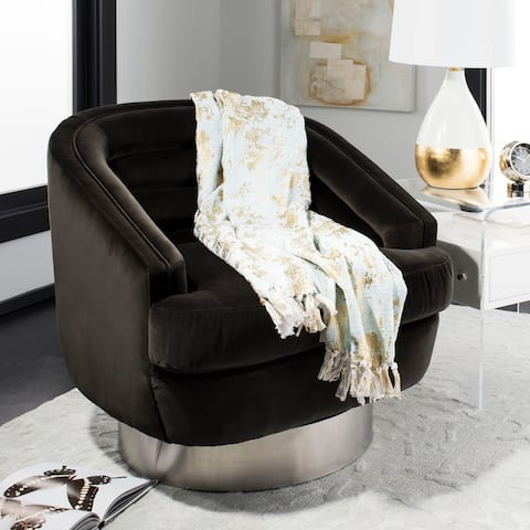 SAFAVIEH Gemma Metallic Blue/Gold Throw Blanket