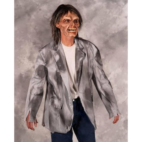 Zombie Costume Coat Adult One Size - Gray