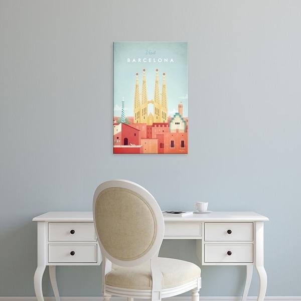 Easy Art Prints Henry Rivers's 'Barcelona' Premium Canvas Art