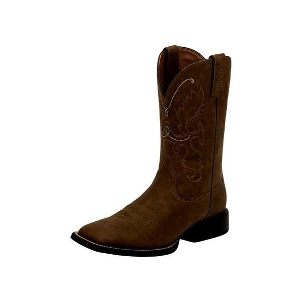 Justin Western Boots Mens Farm Ranch Hinton Unit Heel