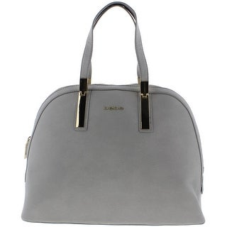 Bebe Womens Ashley Faux Leather Lined Dome Handbag - Large