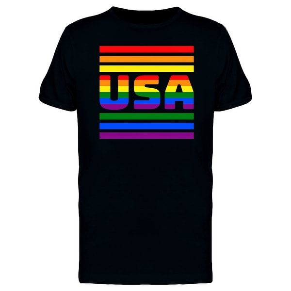54019148d6 Shop Rainbow Striped USA Pride Men's T-shirt - On Sale - Free Shipping On  Orders Over $45 - Overstock - 25584908
