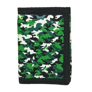 CTM® Kid's Camouflage Print Trifold Wallet - Camo - One size