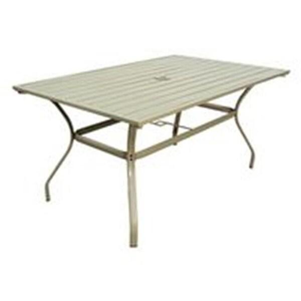 Seasonal Trends 7112881 38 X 60 In Steel Slat Solaris Table Free Shipping Today 26944151