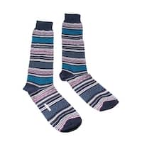 Missoni GM00COU5438 0001 Purple/Turquoise Striped Knee Length Socks - M