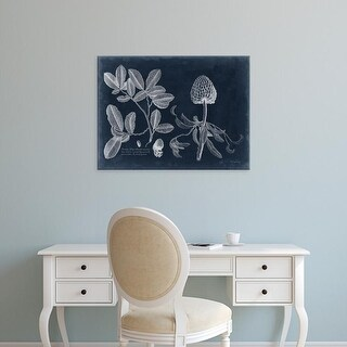 Easy Art Prints Vision Studio's 'Foliage on Navy II' Premium Canvas Art