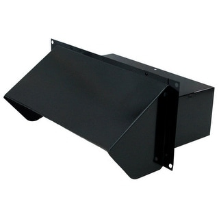 "Air King WC310B 3.25"" x 10"" Black Painted Steel Wall Cap with Spring Loaded Back"