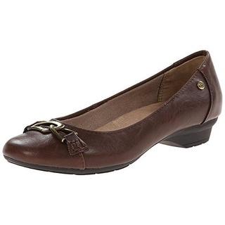 LifeStride Womens Umay Embellished Mini Wedge Round-Toe Shoes