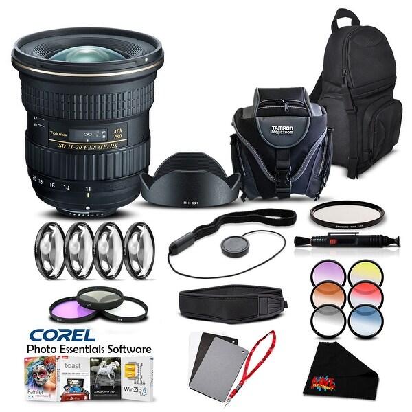 Tokina AT-X 11-20mm f/2.8 PRO DX Lens for (for Nikon) (Intl Model) Lens Accessory Kit - black